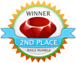 Rails Rumble - 2nd Place Winner